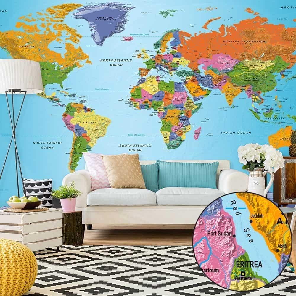 fototapeta mapa świata RADIMAR