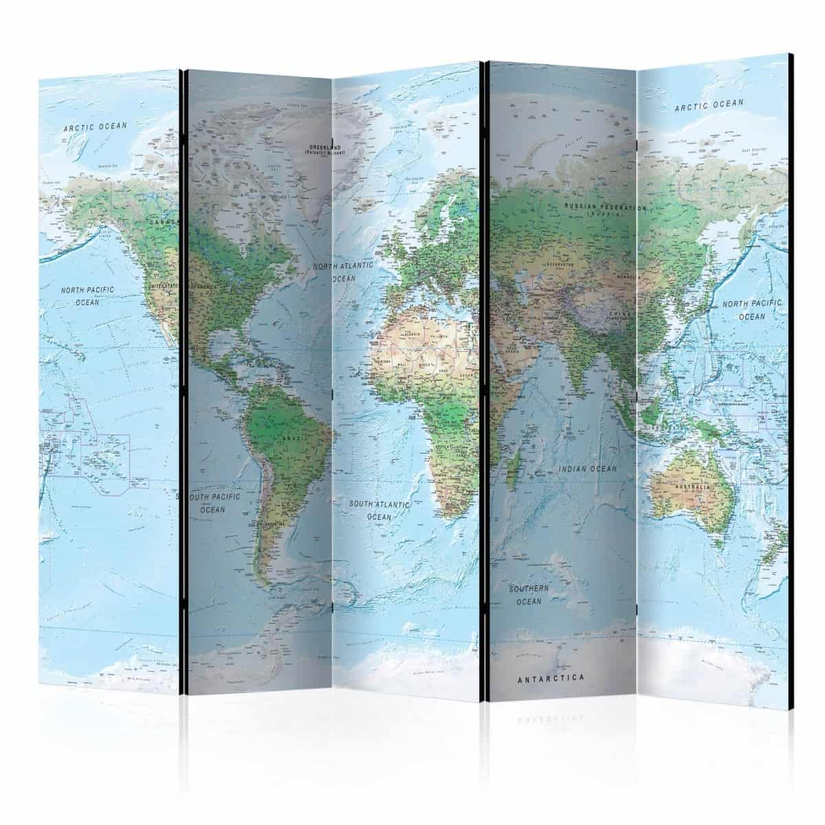parawan mapa świata