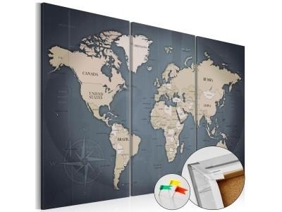 5c659c607a14cc Obraz na korku - Antracytowy świat [Mapa korkowa]