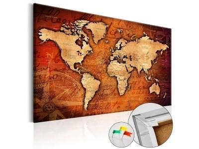 1dde9bb2c82b3f Obraz na korku - Bursztynowy świat [Mapa korkowa]