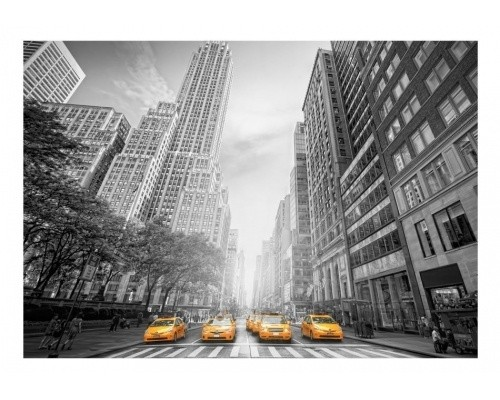 Fototapeta - New York - yellow taxis